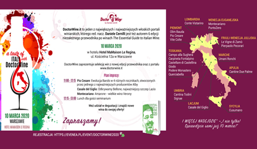 A taste of Italy with DoctorWine Varsavia 2020