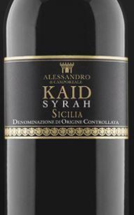 Alessandro di Camporeale Sicilia Syrah Kaid 2016