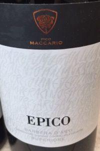 Pico Maccario Barbera d'Asti Superiore Epico 2016