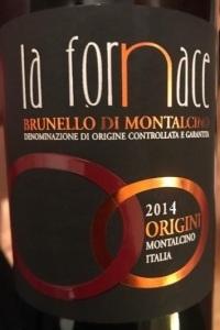 La Fornace Brunello di Montalcino Origini 2014
