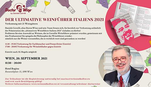 DoctorWine in Wien: Der Ultimative Weinführer Italiens 2021