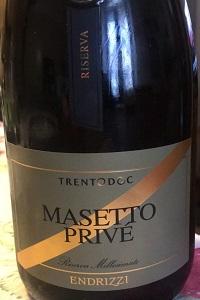 Endrizzi Trentodoc Masetto Privé Riserva 2010