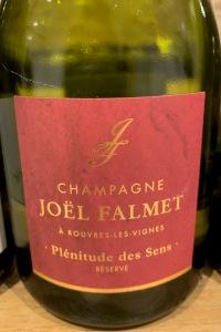 Joël Falmet Champagne Plénitude des Senses