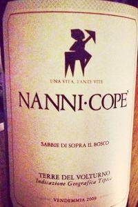 nanni copè Sabbie di Sopra il Bosco terre del volturno rosso igt 2009