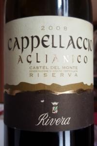 Rivera Cappellaccio Riserva Castel del Monte doc 2008