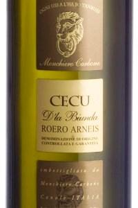 monchiero carbone roero arneis cecu d'la biunda vino bianco piemonte etichetta