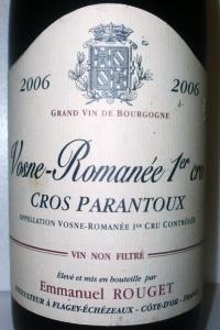 Vosne Romanée 1er Cru Au Cros Parantoux 2006 Emmanuel Rouget