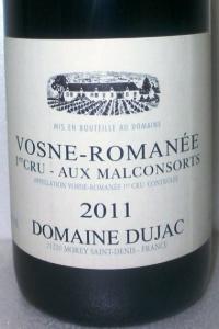 Vosne Romanée 1er Cru Aux Malconsorts 2011 Domaine Dujac