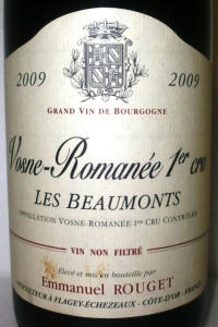 Vosne Romanée 1er Cru Les Beaumonts 2009 Emmanuel Rouget
