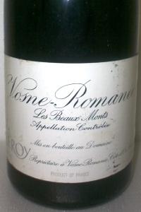 Vosne Romanée 1er Cru Les Beaux Monts 2000 Domaine Leroy