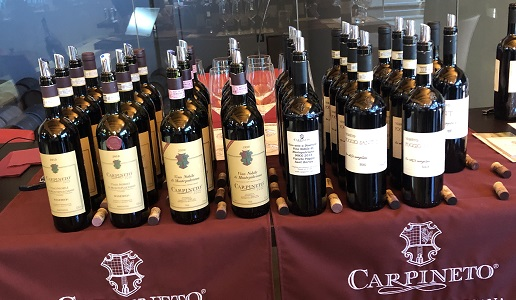 Carpineto cantina e bottiglie