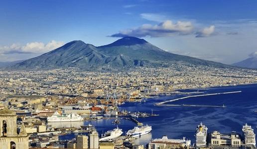 Cartoline dalla Campania panorama golfo napoli