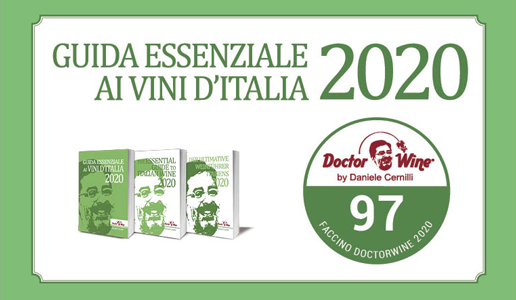 Faccino 97/100 DoctorWine 2020 diploma