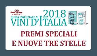 Guida Essenziale ai Vini d'Italia 2018: Premi Speciali e nuove 3 Stelle