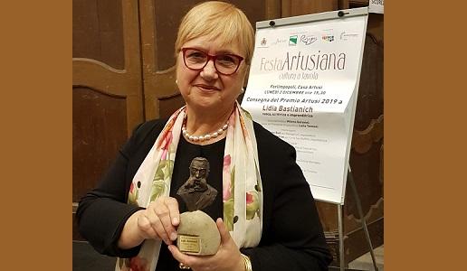 Lidia Bastianich con Premio Artusi