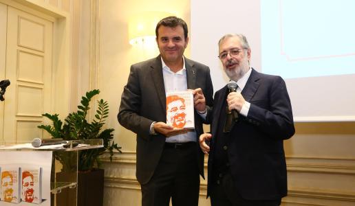 Il ministro Gian Marco Centinaio e Daniele Cernilli