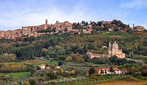 Montepulciano e la chiesa di San Biagio