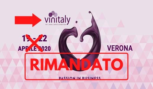Rimandato Vinitaly 2020