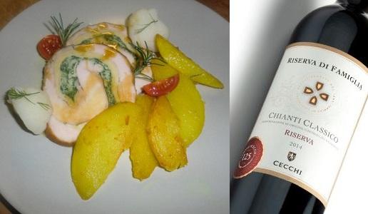 Rollè di pollo Chianti Classico Riserva di Famiglia 2016 Cecchi