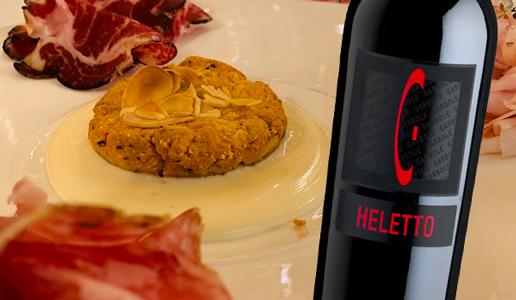 Sbrisolona al formaggio cimbro della Lessinia profumata al rosmarino Garbole Heletto 2012