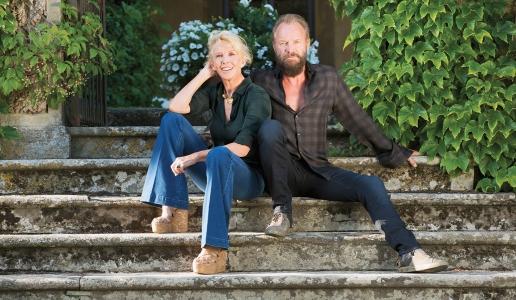 sting e Trudie Styler tenuta il palagio cantina vini toscana message in a bottle