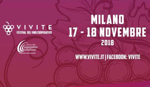 Vivite 2018 Festival del Vino Cooperativo - Milano, 17-18 novembre