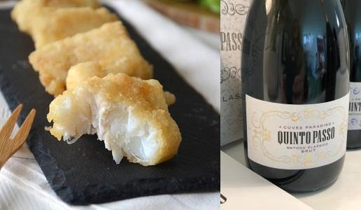 filetti di soaso fritti e quintopasso Cuvée Paradiso Brut