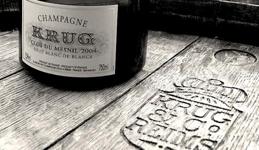 krug champagne clos du mesnil bianco e nero