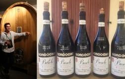 Andrea Farinetti e Bottiglie Barolo Riserva Borgogno