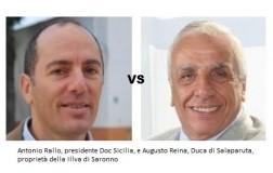 Antonio Rallo, presidente Doc Sicilia ed Augusto Reina, Duca di Salaparuta - Illva di Saronno