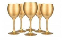 Bicchieri dorati vino
