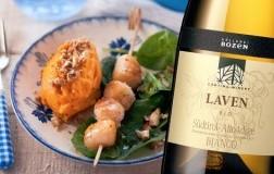Capesante pure di patate dolci spinacini abbinato a Alto Adige Bianco Raven Bio 2020 Cantina Bolzano/Kellerei Bozen