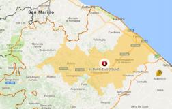 Cartina comprensorio Bianchello del Metauro Marche