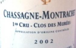 Chassagne Montrachet Monopole 1er Cru Clos de Murées 2002 Domaine Fontaine-Gagnard