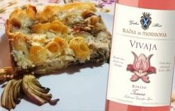 conchiglie al forno con carciofi e prosciutto di Sauris abbinato a Toscana Rosato Vivaja 2019 Badia di Morrona