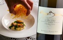 Cozze patate e riso abbinato a Collio Friulano Ronco Blanchis