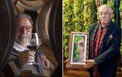 Fausto Maculan produttore vini veneti e l'artista veneziano Maurizio Trentin