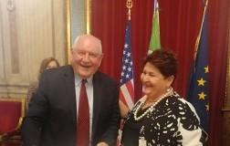 Il Segretario di Stato americano Sonny Perdue e la Ministra delle Politiche agricole on. Teresa Bellanova