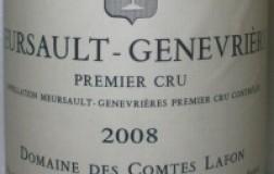 Meursault Genevrières 1er Cru 2008 Comte Lafon