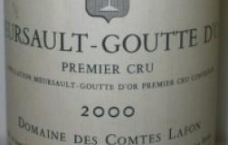 Meursault Goutte D'Or 1er Cru 2000 Comte Lafon