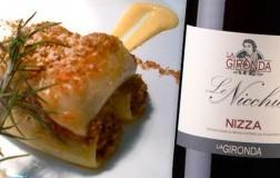 Paccheri di Gragnano con ragù di maialino nero dei Nebrodi e Nizza Le Nicchie 2017 La Gironda