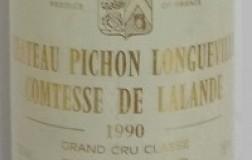 Château Pichon Longueville Comtesse de Lalande Pauillac Deuxième Grand Cru Classé 1990
