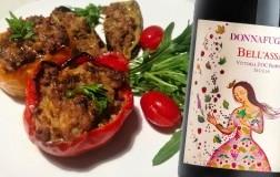 Peperoni ripieni e Vittoria Frappato Bell'Assai 2019 Donnafugata