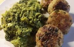 Polpette alla mortadella con broccoletti siciliani
