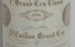 Chateau Cheval Blanc Saint Emilion Grand Cru Classé 1996