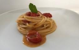 Spaghetti con pomodorini e nduja