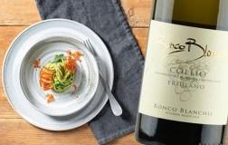 Tagliatelle, pesto e speck croccante con Collio Friulano 2018 Ronco Blanchis