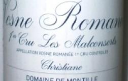 Vosne Romanée 1er Cru Les Malconsorts Christiane 2005 Domaine de Montille