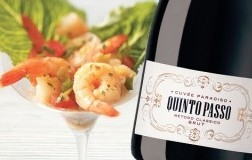 Cocktail di Gamberi con Cuvée Paradiso Brut Metodo Classico Quintopasso