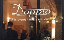 The Doppio restaurant in Trastevere